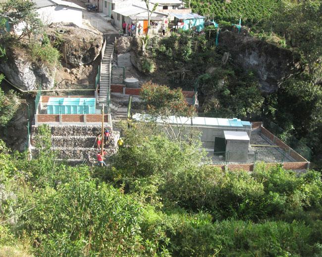 Construcción de alcantarillado sanitario y planta de tratamiento – Yacuanquer