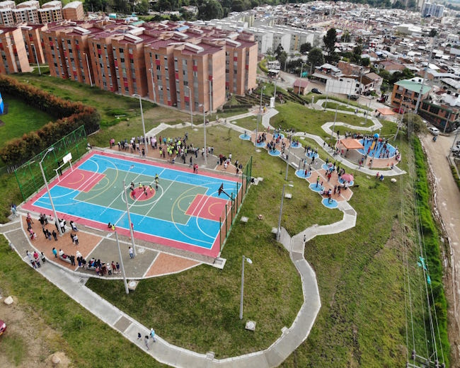 Diseño y construcción de parques recreodeportivos en Cundinamarca, Tolima y Huila