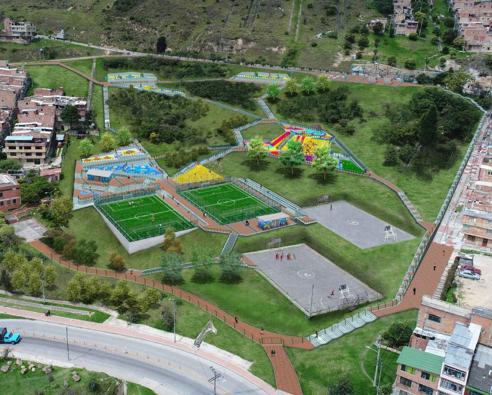 Construcción de parques recreodeportivos Bogotá- Parque Sierra Morena