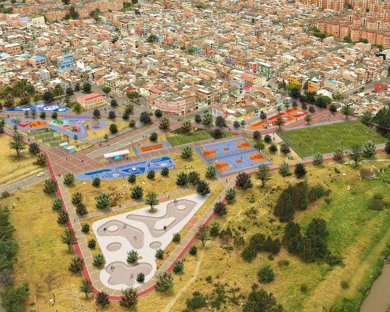 Diseño y construcción de parques recreodeportivos Bogotá- Parque La Coruña